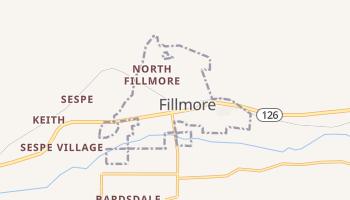 Fillmore, California map