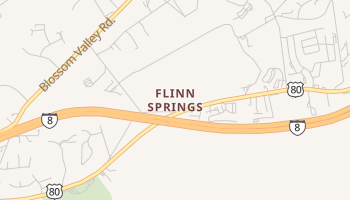 Flinn Springs, California map