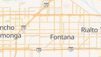 Fontana, California map