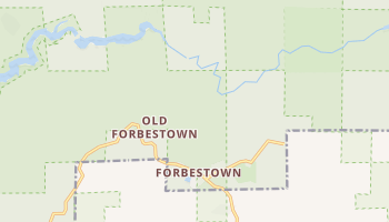 Forbestown, California map