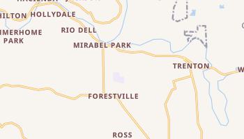 Forestville, California map