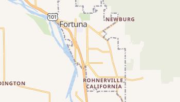 Fortuna, California map