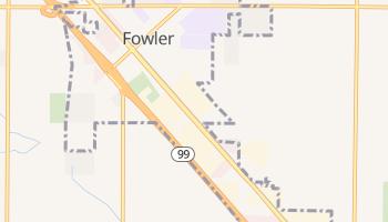Fowler, California map