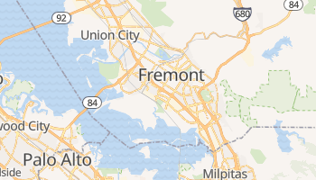Fremont, California map