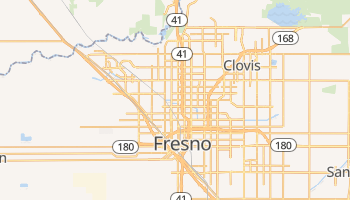 Fresno, California map