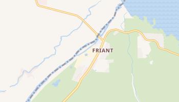 Friant, California map
