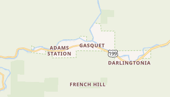 Gasquet, California map