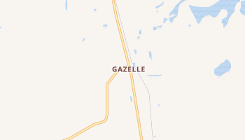 Gazelle, California map