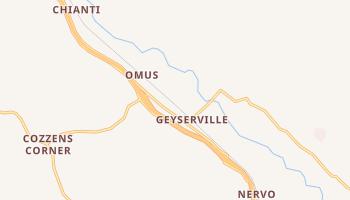 Geyserville, California map