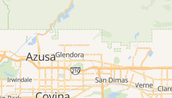 Glendora, California map