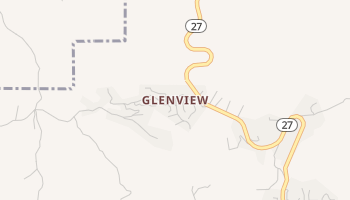 Glenview, California map