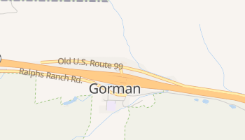 Gorman, California map