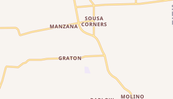 Graton, California map