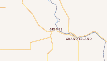 Grimes, California map
