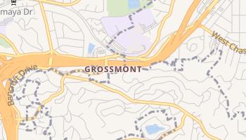 Grossmont, California map