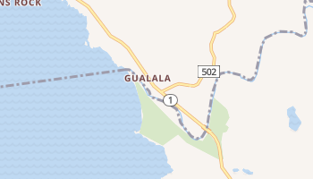 Gualala, California map