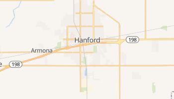 Hanford, California map