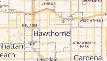 Hawthorne, California map