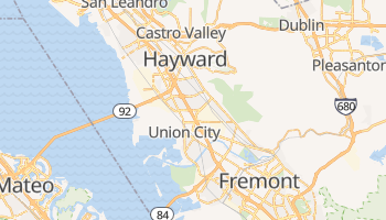 Hayward, California map
