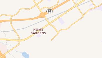 Home Gardens, California map