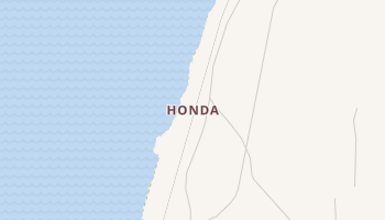 Honda, California map