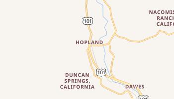 Hopland, California map