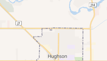 Hughson, California map