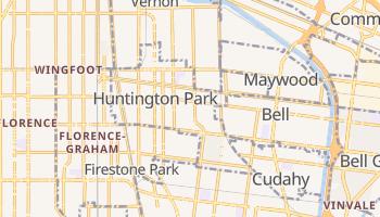 Huntington Park, California map