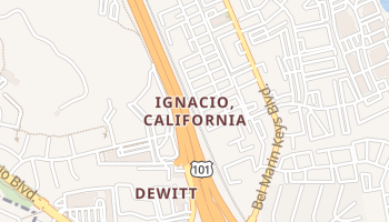 Ignacio, California map