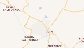 Ione, California map