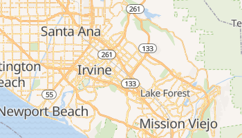 Irvine, California map