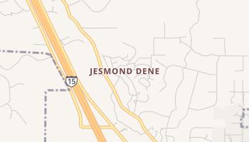 Jesmond Dene, California map