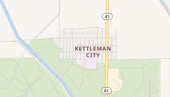 Kettleman City, California map