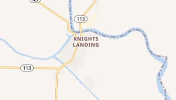 Knights Landing, California map