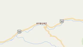 Kyburz, California map