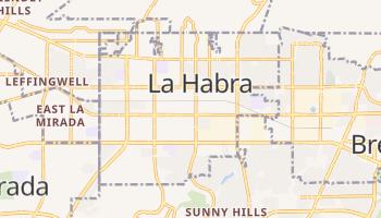 La Habra, California map