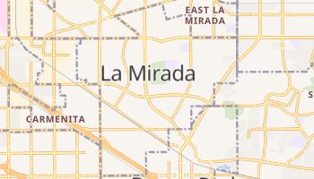 La Mirada, California map