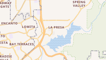La Presa, California map