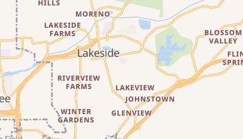 Lakeside, California map