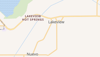 Lakeview, California map
