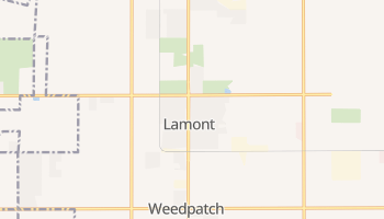 Lamont, California map