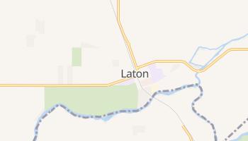 Laton, California map