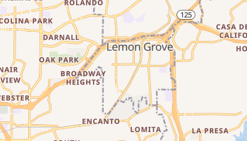 Lemon Grove, California map