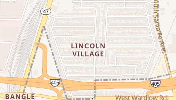 Lincoln Village, California map