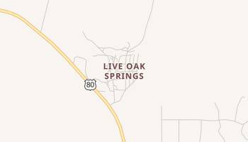 Live Oak Springs, California map