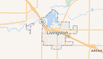 Livingston, California map