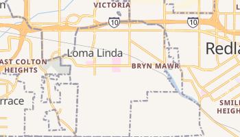 Loma Linda, California map