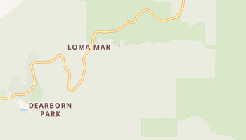 Loma Mar, California map