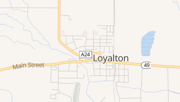 Loyalton, California map