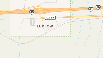 Ludlow, California map